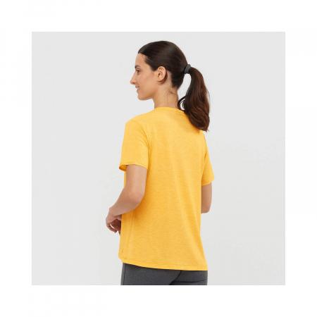 Tricou maneca scurta drumetie femei SALOMON Essential galben [2]