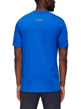 Tricou bumbac organic barbati MAMMUT Seile albastru [3]