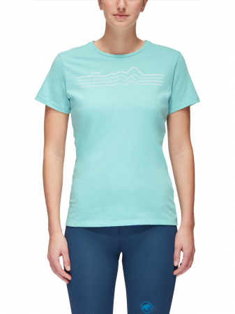 Tricou bumbac organic femei MAMMUT Seile bleu [1]