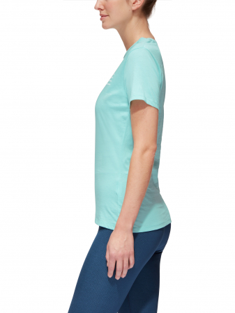 Tricou bumbac organic femei MAMMUT Seile bleu [3]