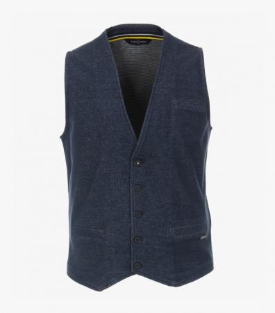 Vesta tricotata cu nasturi CASA MODA bleumarin [0]