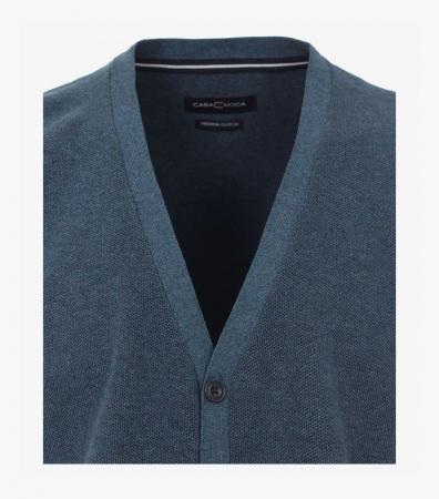 Vesta tricotata cu nasturi barbati CASA MODA aqua/petrol [2]