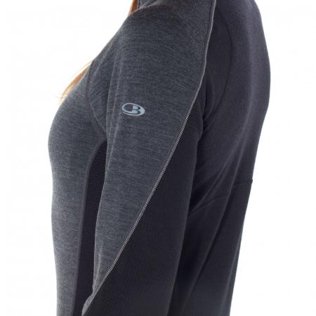 Bluza de corp femei ICEBREAKER fermoar 1/3 260 Zone gri [5]