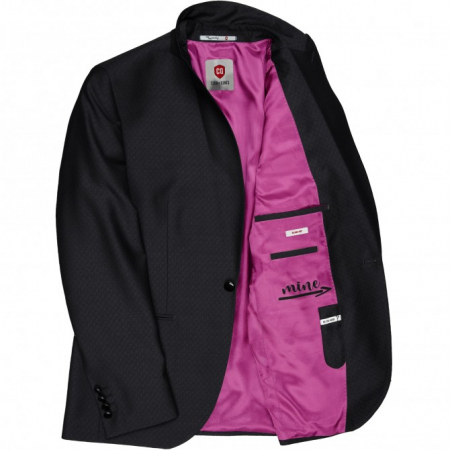 Sacou mix&match CLUB of GENTS Pete pentru costum Diamond design Slim Fit negru [2]