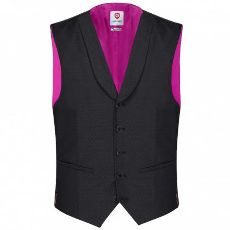 Vesta mix&match CLUB of GENTS Philipp pentru costum Diamond design Slim Fit negru [0]
