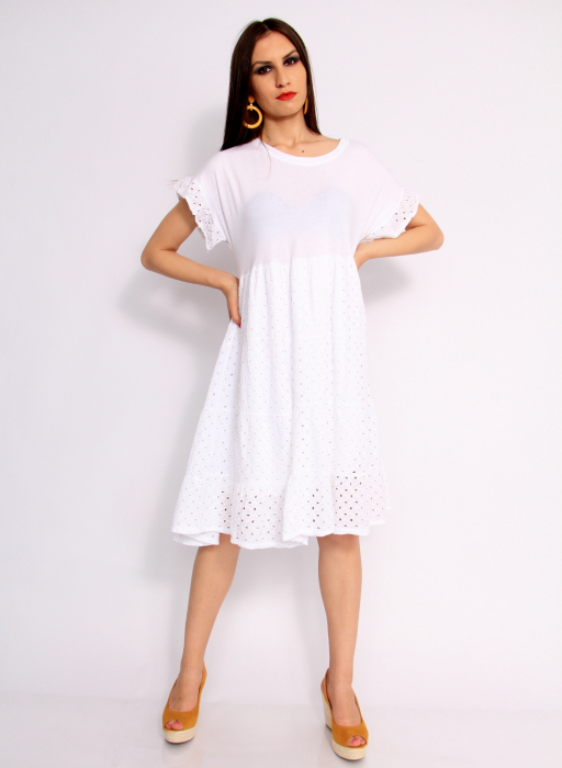 Rochie lunga din broderie 0