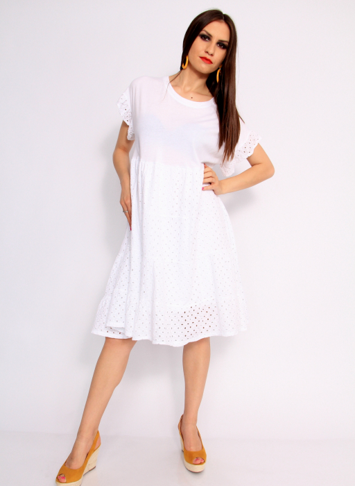 Rochie lunga din broderie 1