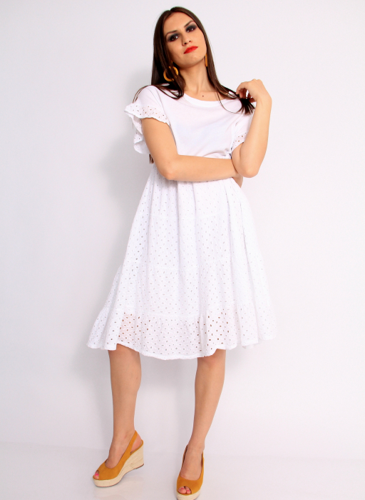 Rochie lunga din broderie 2