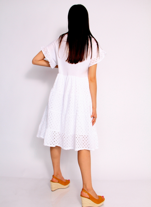 Rochie lunga din broderie 3