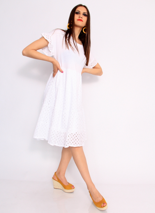 Rochie lunga din broderie 4