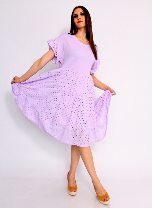 Rochie lunga din broderie 5