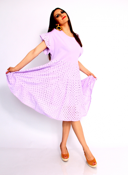Rochie lunga din broderie 6