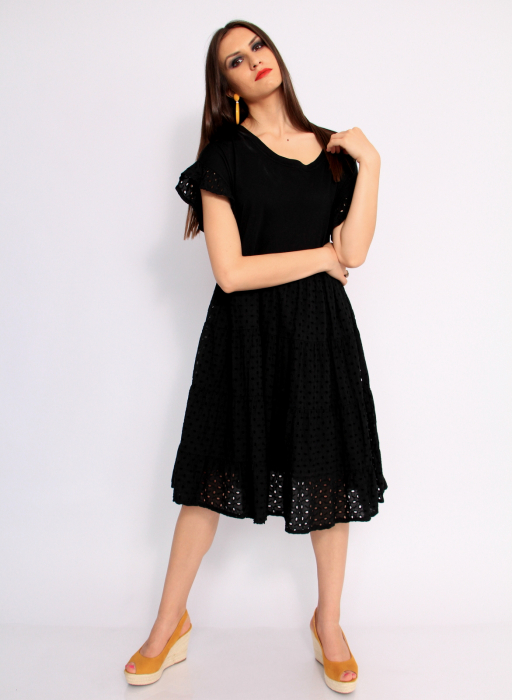 Rochie lunga din broderie 7