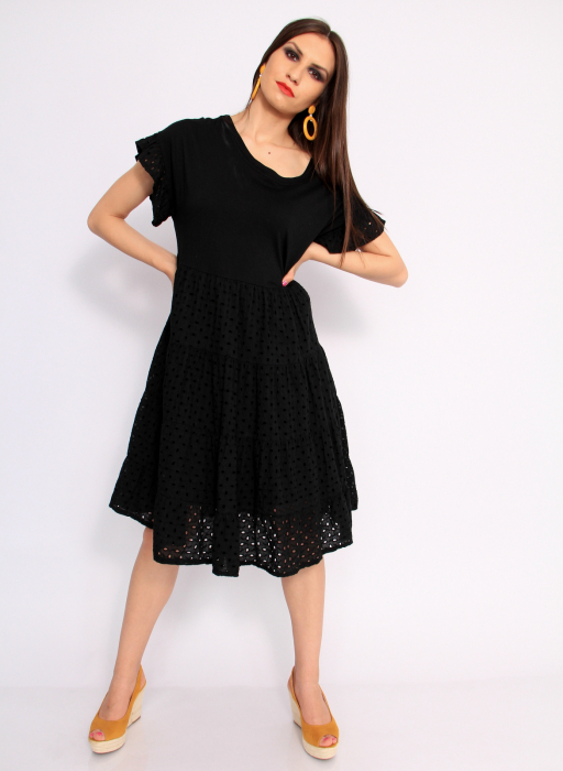 Rochie lunga din broderie 8