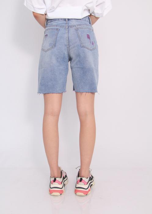 Pantaloni scurti din denim, rupti . 4