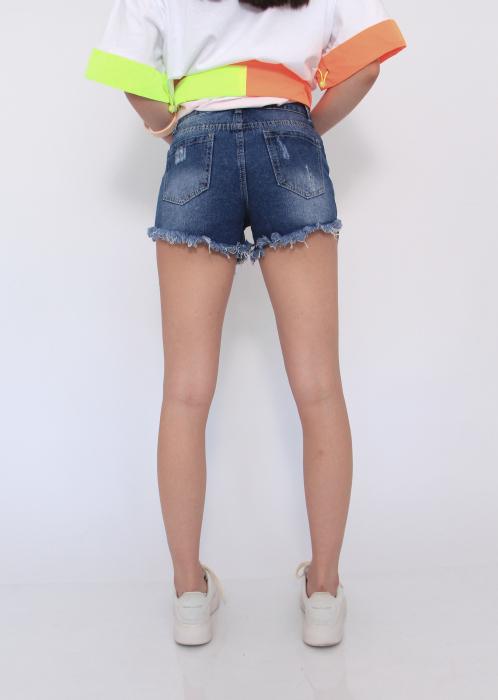 Pantaloni blugi scurti nefinisati 1