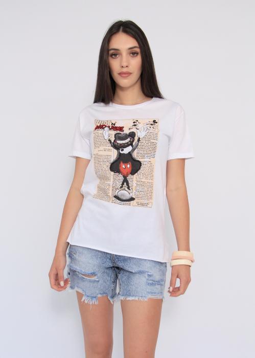 Tricou Mickey Paper Print 0