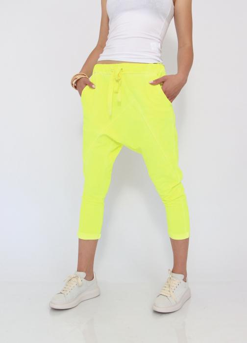 Pantaloni neon cu tur 0