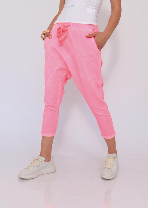 Pantaloni neon cu tur 2