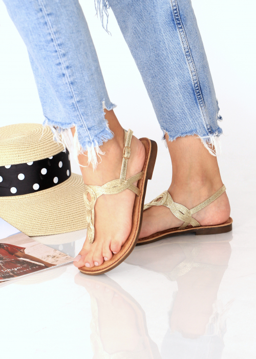 Sandale cu bareta intre degete 4