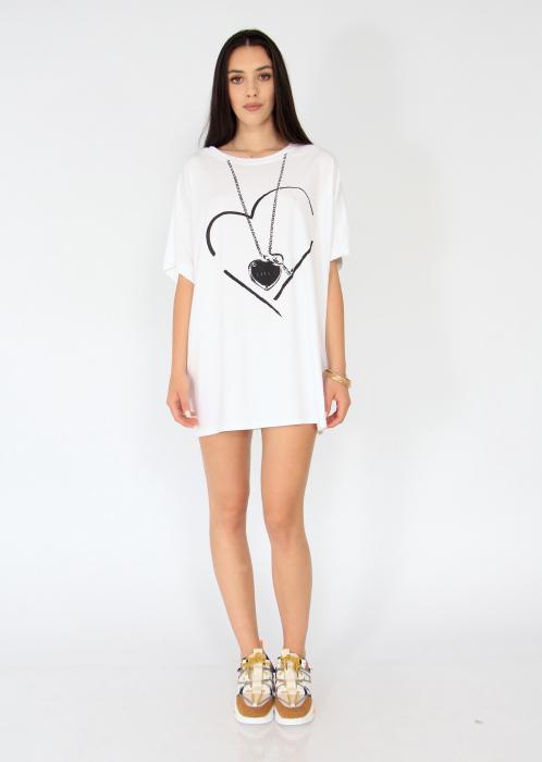 Tricou lung love heart. 0