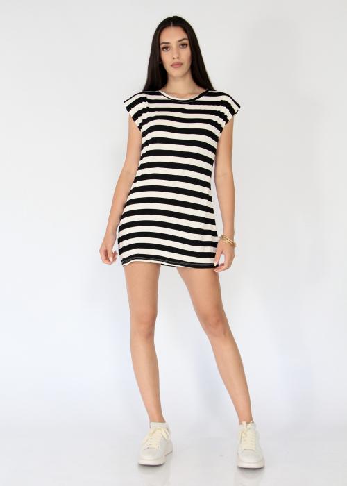 Bluza cu dungi tip rochie 0