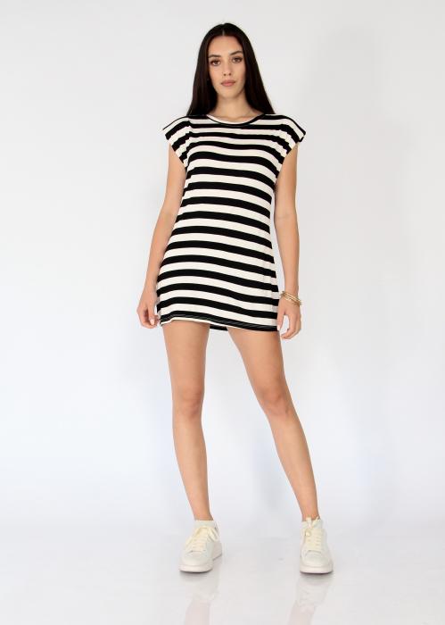 Bluza cu dungi tip rochie 1