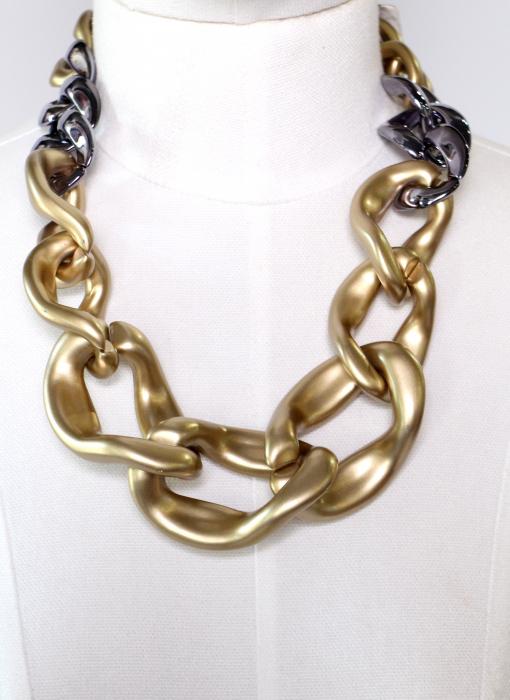 Colier zale aurii si argintii 1