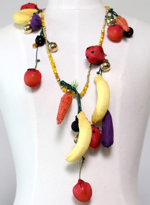 Colier accesorii fructe 0