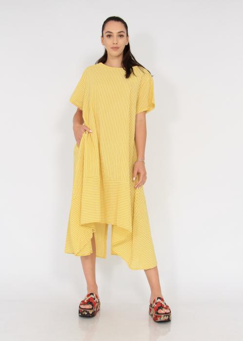 Rochie lunga cu maneci usor asimetrica 0