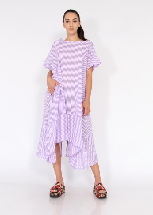Rochie lunga cu maneci usor asimetrica 4