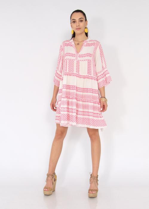 Rochie cu tunica motive etno 1