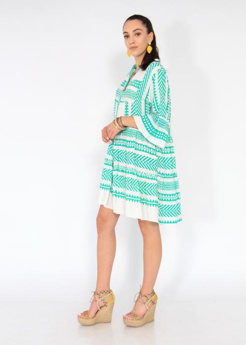 Rochie cu tunica motive etno 4