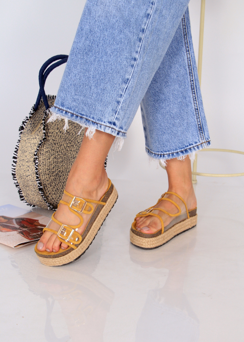 Papuci platforma inalta 0