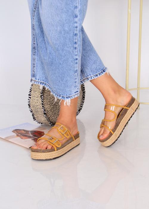 Papuci platforma inalta 1