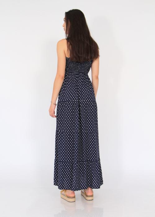 Rochie lunga cu volane si buline 5