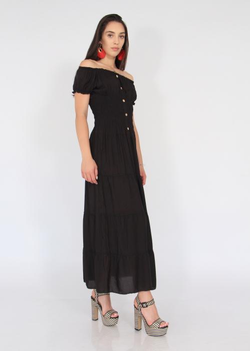 Rochie lunga elastic talie 3
