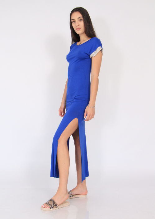 Rochie lunga cu crapaturi laterale 4
