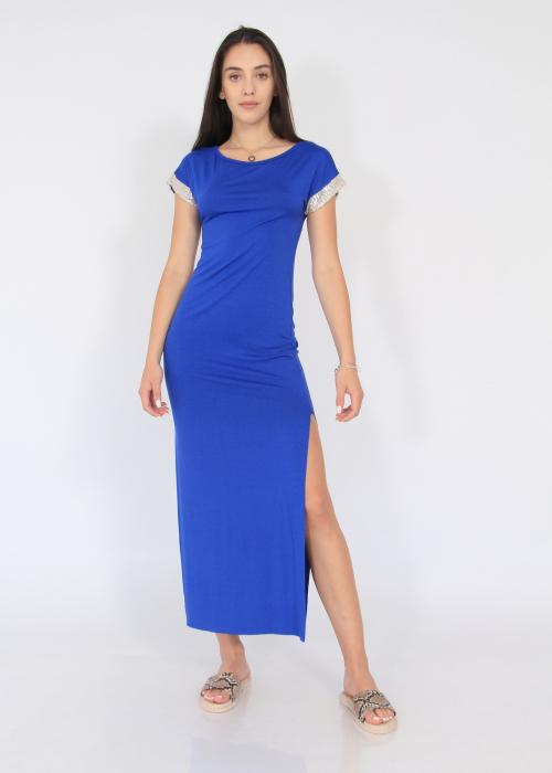 Rochie lunga cu crapaturi laterale 5