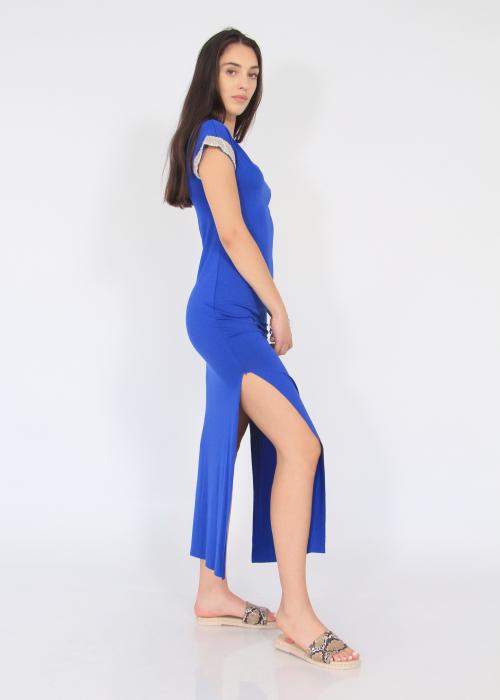 Rochie lunga cu crapaturi laterale 6