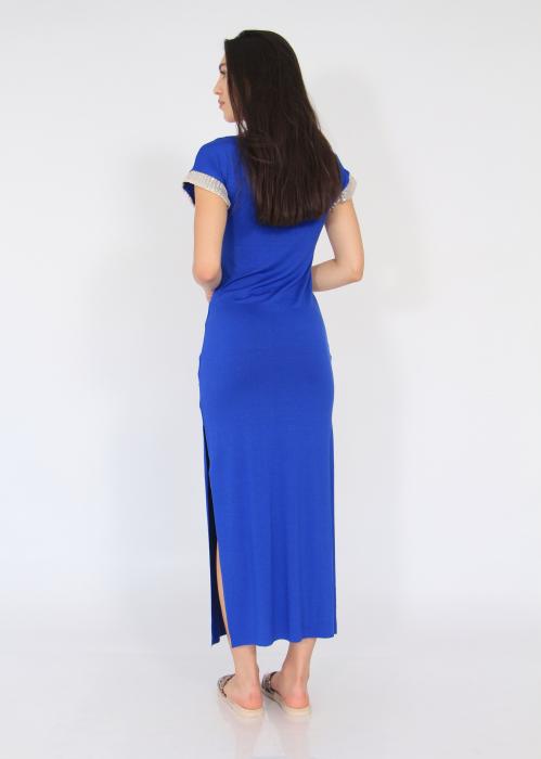 Rochie lunga cu crapaturi laterale 7