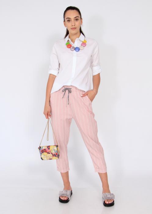 Pantaloni cu elastic si siret talie 0