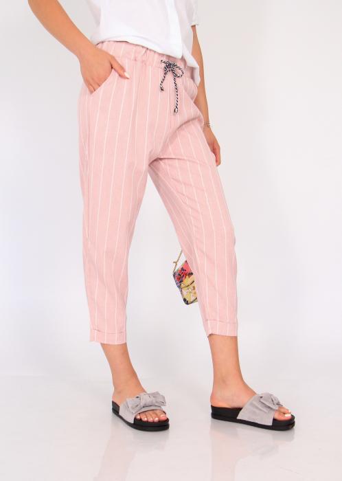 Pantaloni cu elastic si siret talie 3