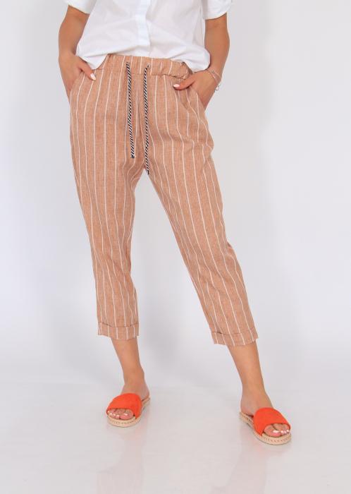 Pantaloni cu elastic si siret talie 4