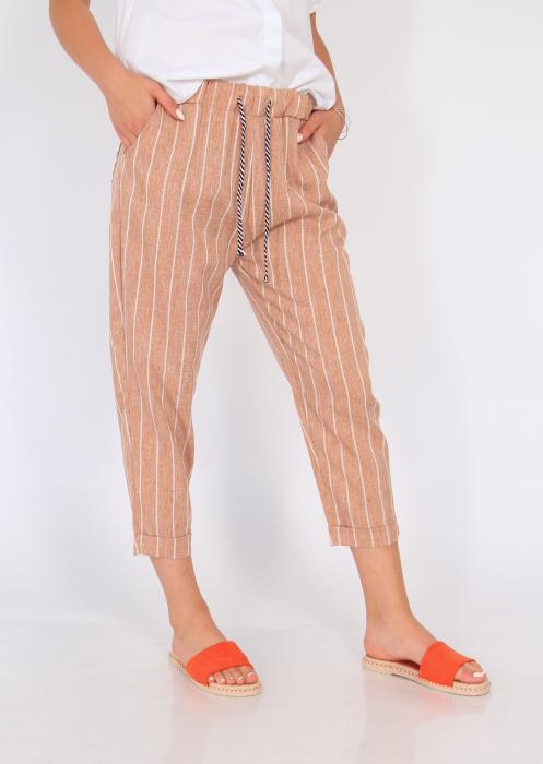 Pantaloni cu elastic si siret talie 5