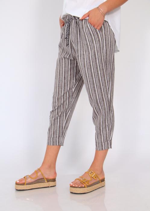 Pantaloni cu dungi fine 2