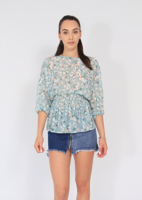 Bluza elastic talie print floral 0