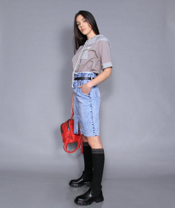 Fusta jeans si bluza 2
