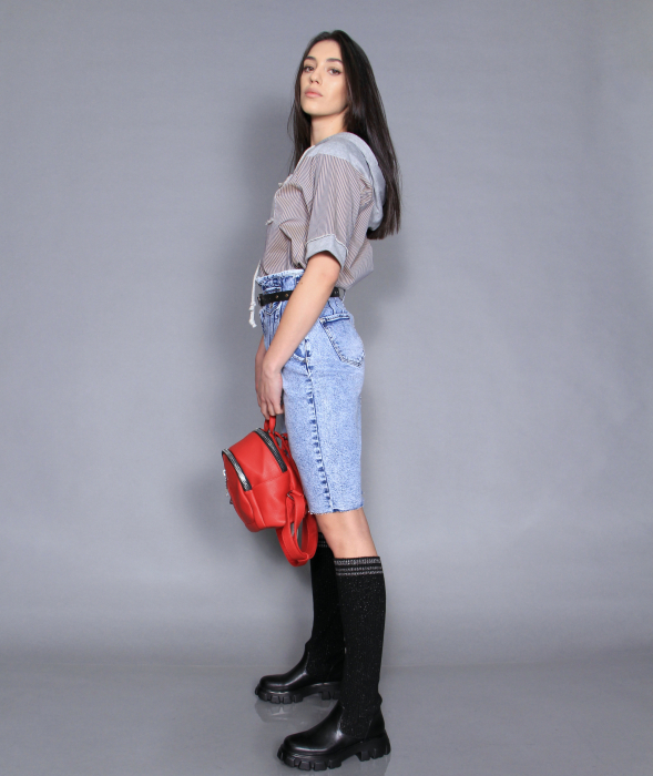 Fusta jeans si bluza 3