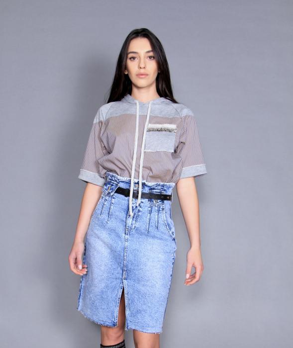 Fusta jeans si bluza 4